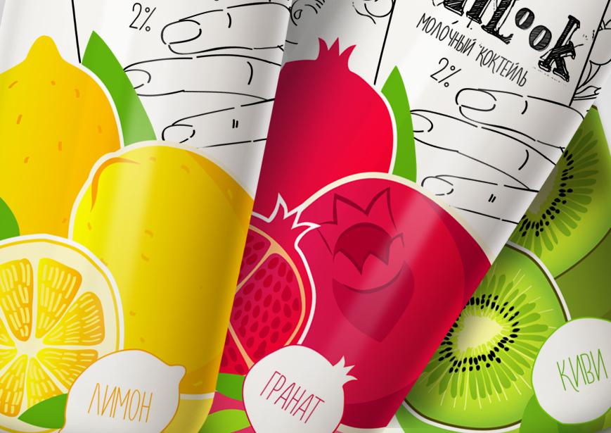 Иллюстрации для молочных коктейлей MILooK от креативного агенства Irons