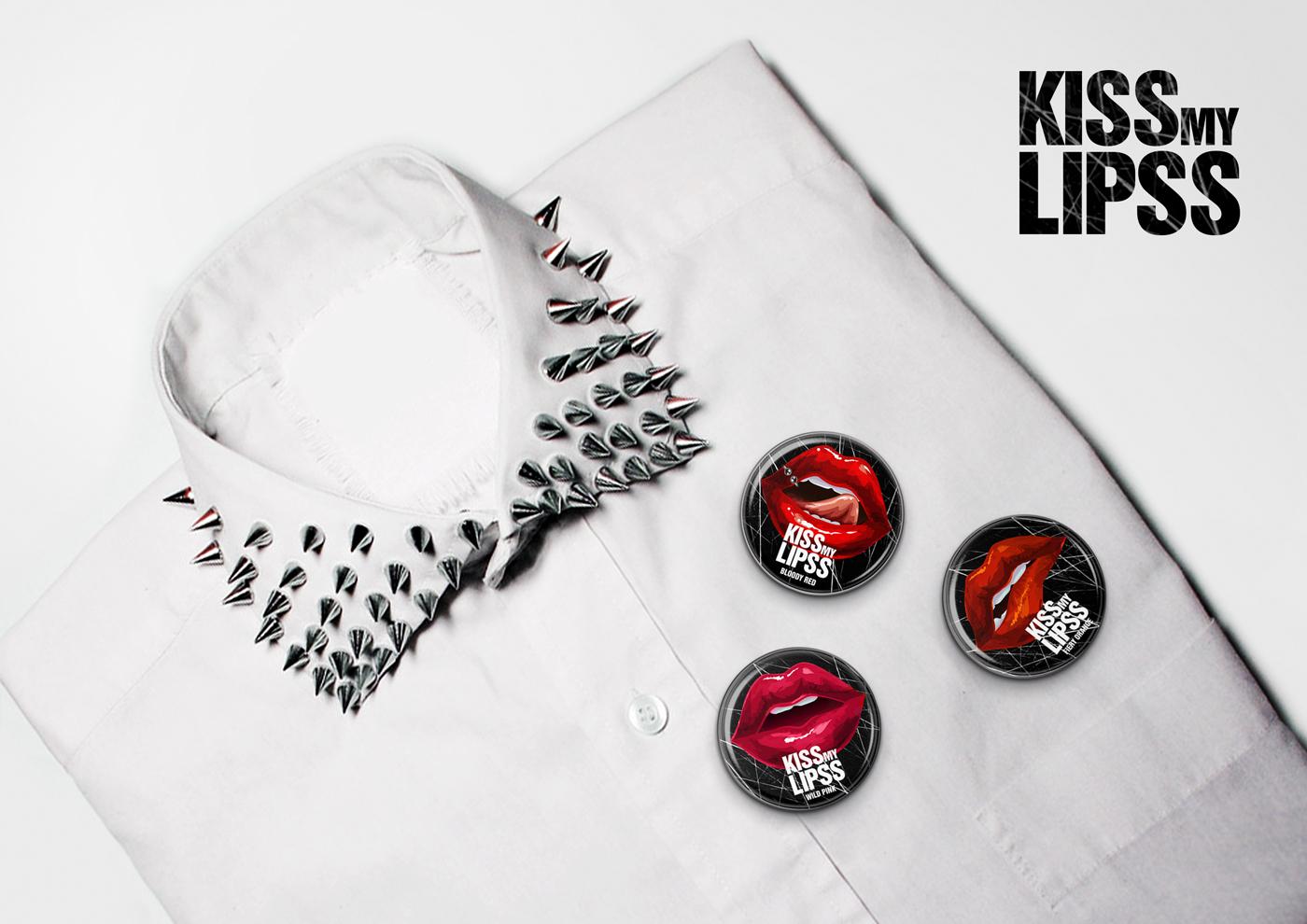 Дизайн упаковки блеска для губ KISS MY LIPS
