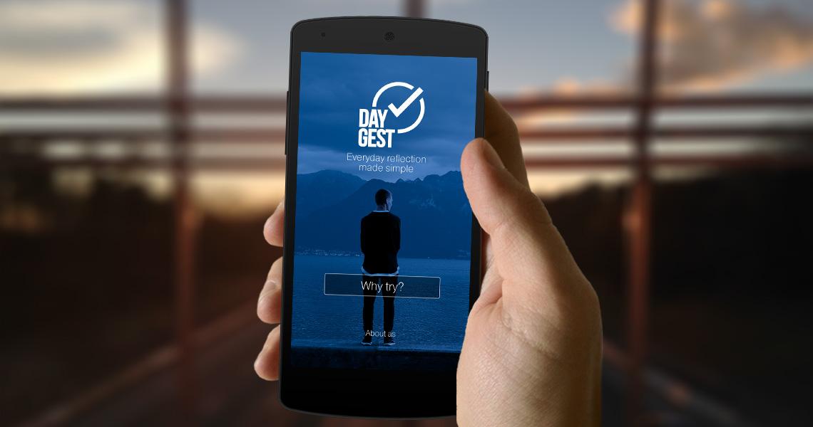 Логотип для мобильного приложения DayGest от креативного агенства Irons